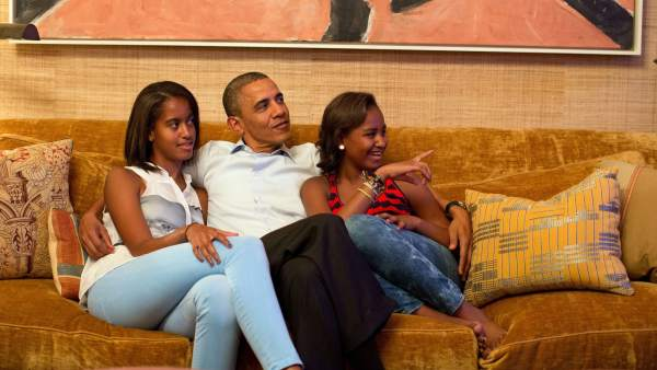 Obama y sus hijas