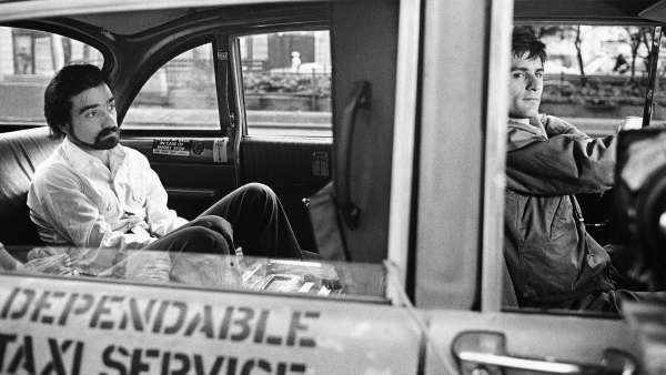 Scorsese viaja en taxi