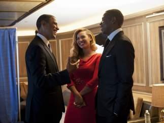 Barack Obama con Beyoncé y Jay-Z