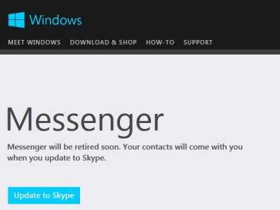 Cambio de Messenger a Skype