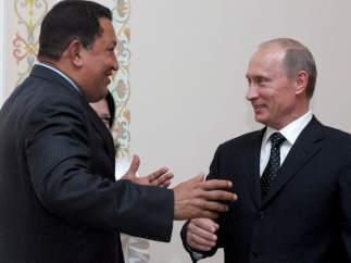Putin recibe a Chávez