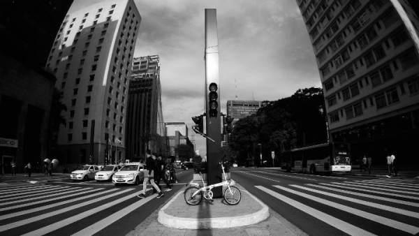 Ciclistas en Sao Paulo