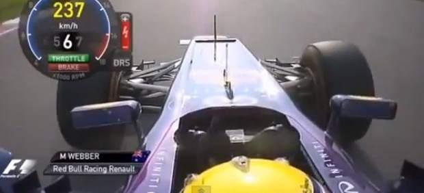 Peineta de Webber a Vettel