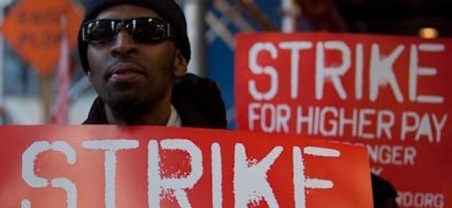 Huelga de comida rápida en Nueva York