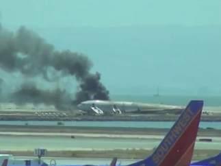 Incendio de un avión en San Francisco