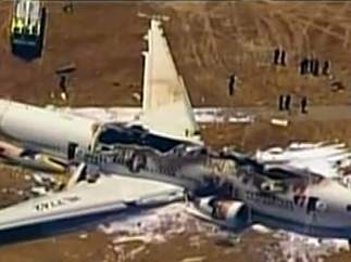 Accidente de avión en San Francisco