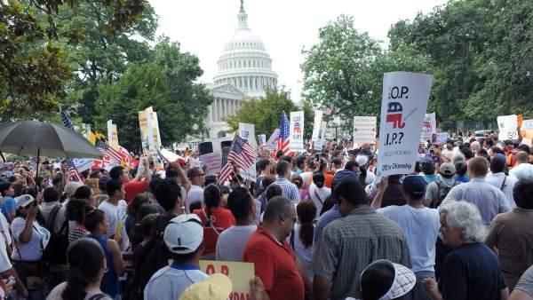 Protesta inmigrantes en Washington