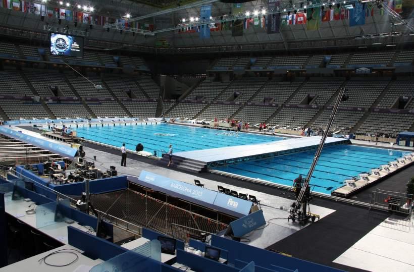 Foto palau sant jordi mundiales de nataci n de barcelona for Piscina olimpica barcelona