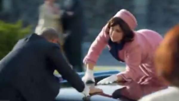 Fotograma del anuncio de PMU sobre Kennedy