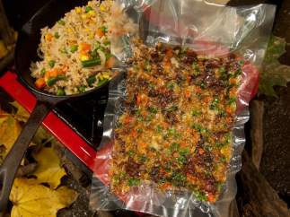 ´Fried Rice with Beans, Corns and Snow Peas´