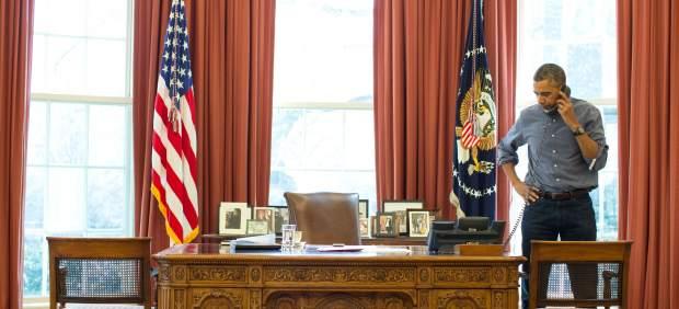 Barack Obama, al teléfono con Putin