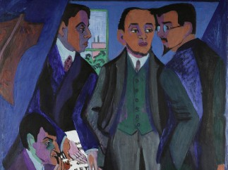A Group of Artists (The Painters of the Brücke), 1925-26