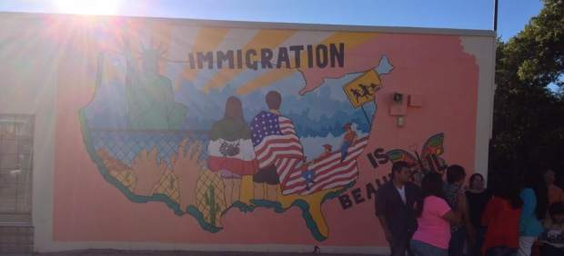 Mural Inmigrantes en Wichita