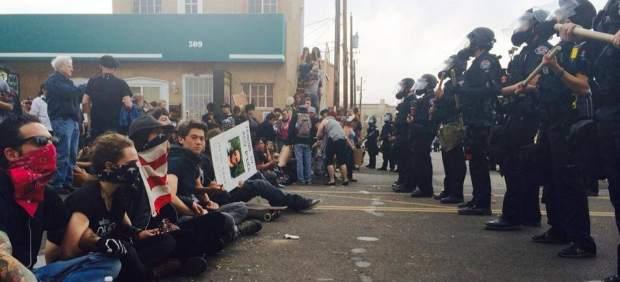 Protesta en Alburquerque