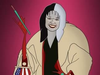 Palin, retratada como Cruela