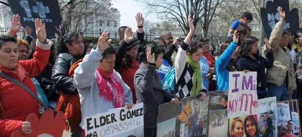 Huelga de hambre frente a la Casa Blanca