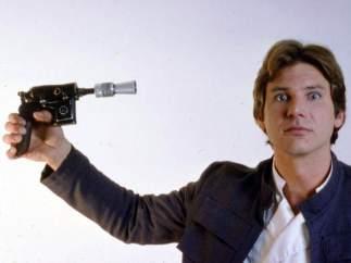 El actor Harrison Ford como Han Solo