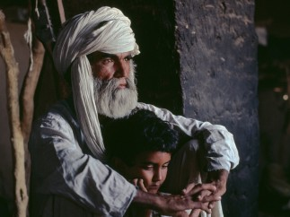 FATHER AND SON IN HELMAND PROVINCE, 1980