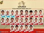 Los 23 convocados por Del Bosque