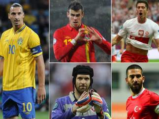 Ibrahimovic, Bale, Lewandowski, Cech y Turan