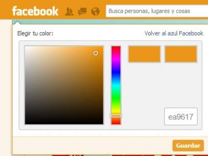 Cambiar el color de Facebook