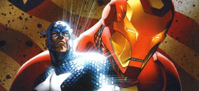 Iron-Man y el Capitán América en el cómic Civil War