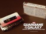 Cinta de cassette con la banda sonora de Guardianes de la galaxia