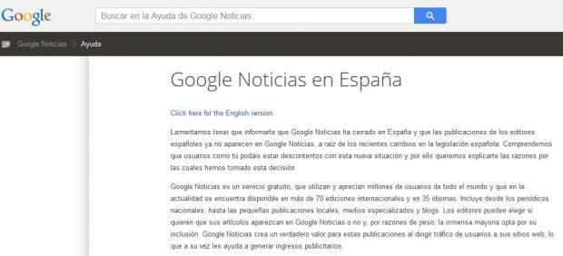 Mensaje de Google