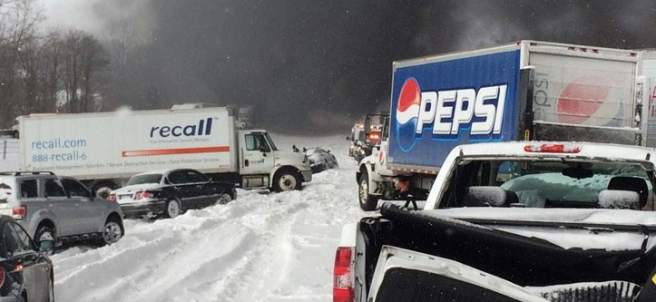 Choque múltiple en Michigan
