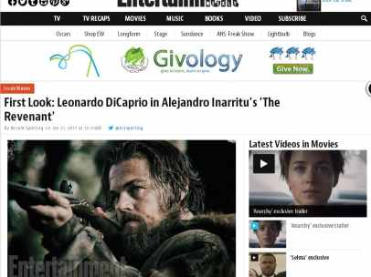 Leonardo DiCaprio en ´The Revenant´