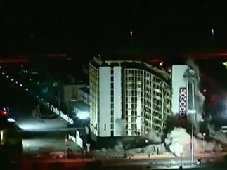 Implosión del Hotel Clarion en Las Vegas