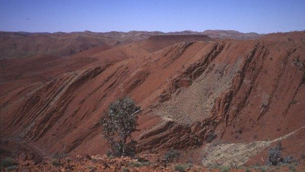 Rocas sedimentarias en Australia