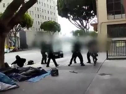 La Policía mata a una persona sin techo