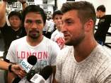 Tim Tebow visita a Manny Pacquiao
