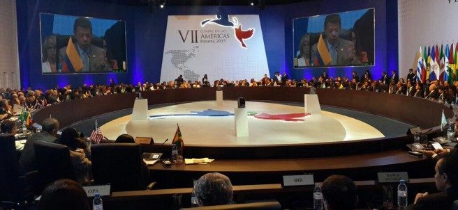 Sesión plenaria de la Cumbre de las Américas 2015