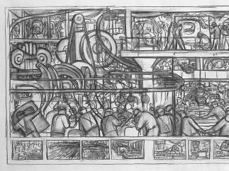 The Assembly of an Automobile, Diego Rivera, 1932