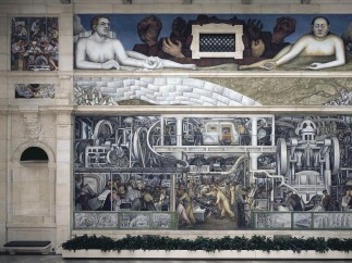 Detroit Industry, south wall, Diego Rivera, 1932-33, fresco, final assembly