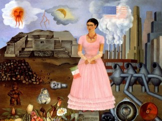 Self-Portrait on the Borderline between Mexico and the United States, Frida Kahlo, 1932