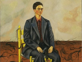 Self Portrait with Cropped Hair, Frida Kahlo, 1940