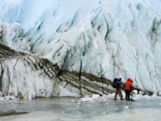 Glaciar Taylor en la Antártida