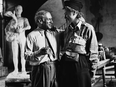 Lee MILLER (1907-77) - Pablo Picasso and Lee Miller after the liberation of Paris, Rue de Grand Augustins, Paris, France, 1944