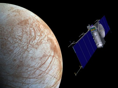 Nave de la NASA aproximándose a Europa