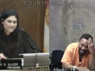Una jueza y su acusado