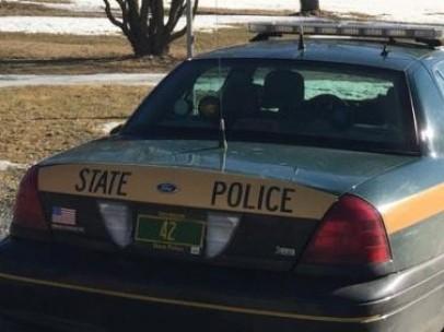 Una patrulla de policía del estado de Vermont