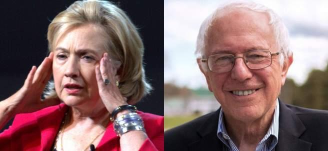 Clinton y Sanders