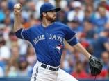 Drew Hutchison de los Azulejos de Toronto
