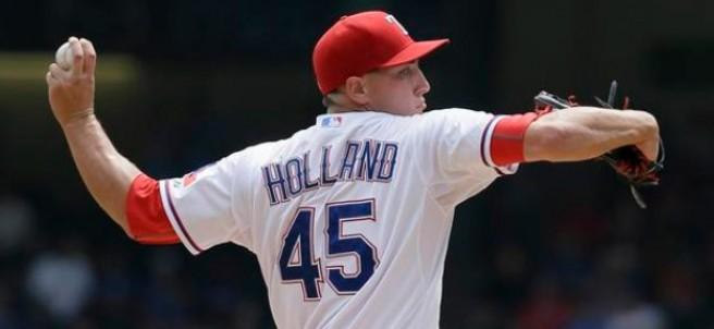 Derek Holland de los Rangers de Texas