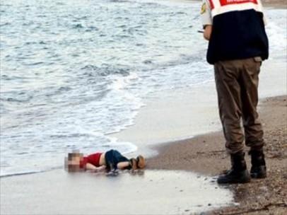Niño sirio que muere ahogado
