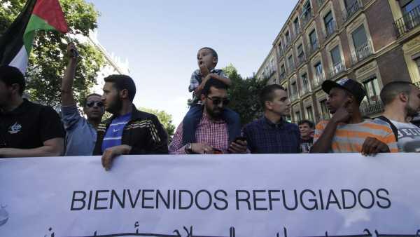 Marcha a favor de los refugiados