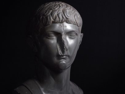 ´Bust of Germanicus, great-nephew of Augustus with a later Christian cross carved onto the forehead´, about AD 14–20, date of carved cross, unknown